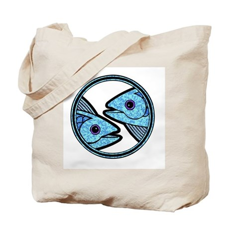 Pisces Astrology Sign Tote Bag