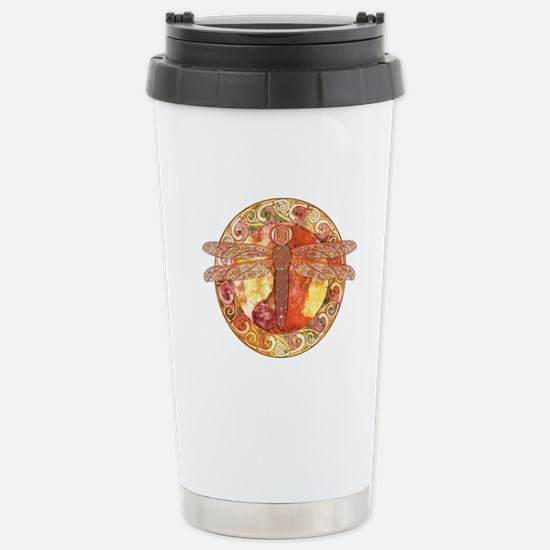 Hot Celtic Dragonfly Stainless Steel Travel Mug