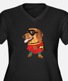 Batdogs Sidekick Women's Plus Size V-Neck Dark T-S