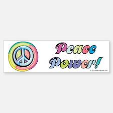 Peace Power Bumper Bumper Bumper Sticker