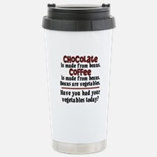 Chocolate & Coffee Stainless Steel Travel Mug