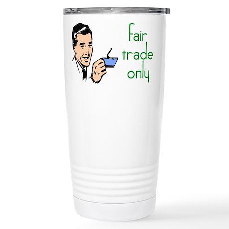 Fair Trade Only Stainless Steel Travel Mug