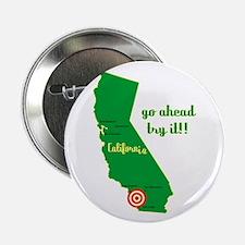 """California Earthquake 2.25"""" Button"""