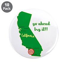 """California Earthquake 3.5"""" Button (10 pack)"""