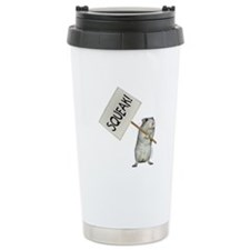 Protesting Gerbil Travel Mug