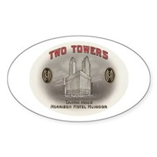 Two Towers Morrison Hotel Cig Oval Decal