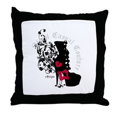 Couture Shoe Silhouette Throw Pillow
