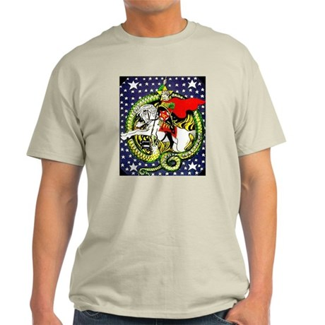 Trotsky Slaying the Dragon Light T-Shirt