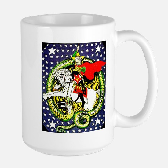 Trotsky Slaying the Dragon Large Mug