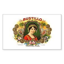 Bustillo Tampa Vintage Cigar Rectangle Decal
