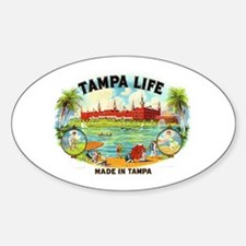 Tampa Life Vintage Cigar Ad Oval Decal