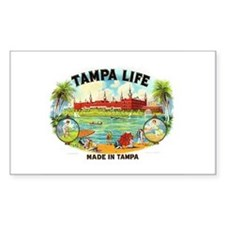 Tampa Life Vintage Cigar Ad Rectangle Decal