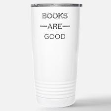 Books Are Good Stainless Steel Travel Mug