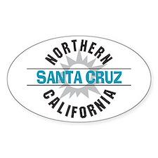 Santa Cruz California Oval Decal