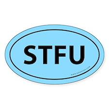 STFU Euro Bumper Oval Sticker -Sky Blue