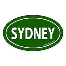 Sydney Euro Bumper Oval Sticker -Dark Green