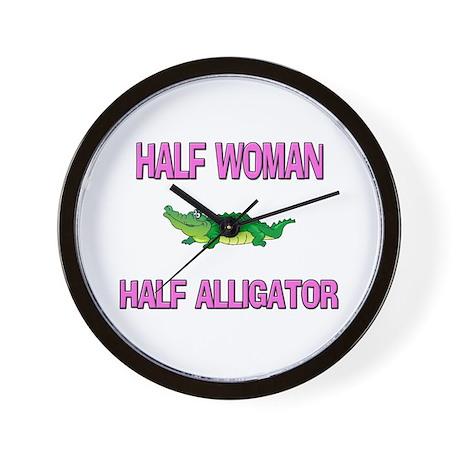 Half Woman Half Alligator Wall Clock