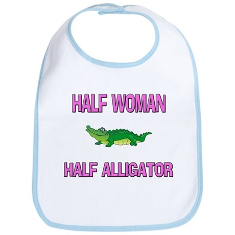 Half Woman Half Alligator Bib