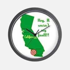 California Earthquake Wall Clock
