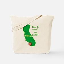 California Earthquake Tote Bag
