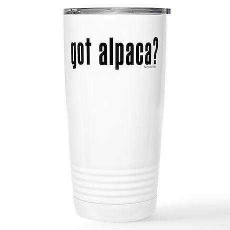 got alpaca? Stainless Steel Travel Mug