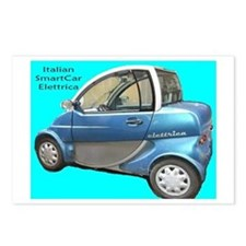 Italian Smart Car Postcards (Package of 8)