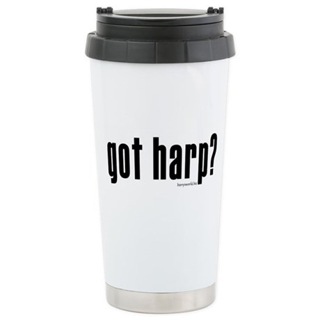got harp? Stainless Steel Travel Mug