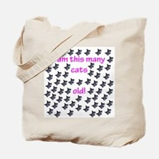 60 Cats Old! Tote Bag