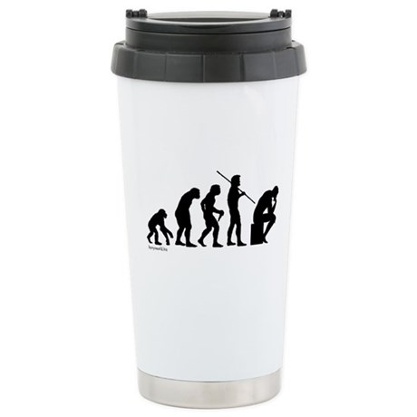Thinker Evolution Stainless Steel Travel Mug