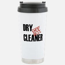 Off Duty Dry Cleaner Stainless Steel Travel Mug