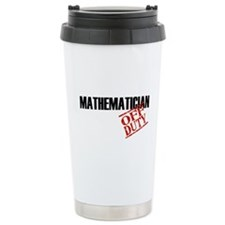 Off Duty Mathematician Travel Coffee Mug