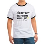 Only Happy Riding Ringer T