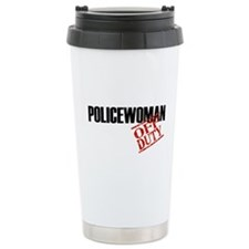 Off Duty Policewoman Ceramic Travel Mug