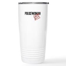 Off Duty Policewoman Travel Coffee Mug