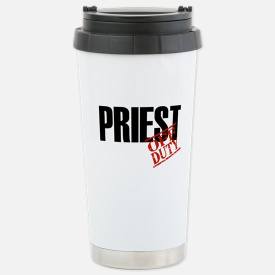 Off Duty Priest Stainless Steel Travel Mug