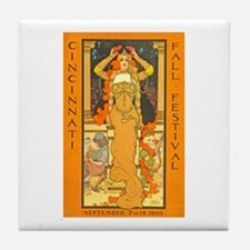 Cincinnati Fall Festival Tile Coaster