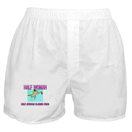 Half Woman Half African Clawed Frog Boxer Shorts