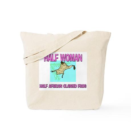 Half Woman Half African Clawed Frog Tote Bag