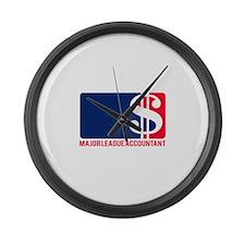 Major League Accountant Large Wall Clock