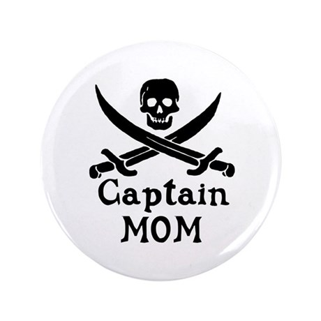 """Captain Mom 3.5"""" Button (100 pack)"""