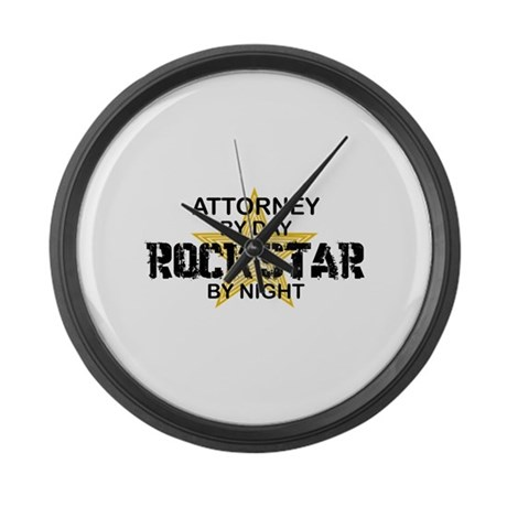 Attorney Rock Star Large Wall Clock