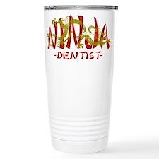 Dragon Ninja Dentist Travel Coffee Mug