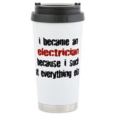 Cute Electrician career Travel Mug