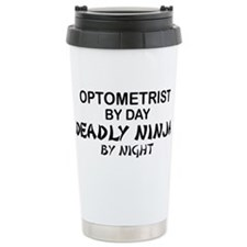 Optometrist Deadly Ninja Travel Mug