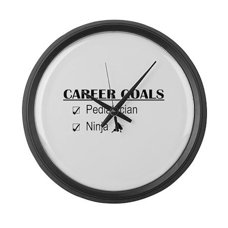 Pediatrician Career Goals Large Wall Clock