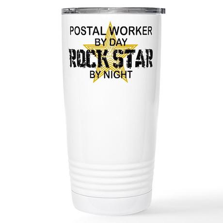 Postal Worker RockStar Stainless Steel Travel Mug
