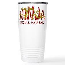 Dragon Ninja Social Worker Travel Mug