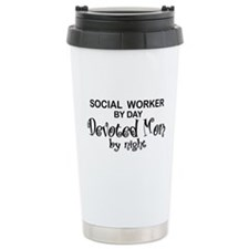 Social Worker Devoted Mom Thermos Mug