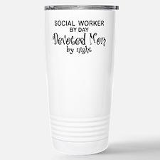 Social Worker Devoted Mom Travel Mug