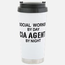 Social Workder CIA Agent Stainless Steel Travel Mu